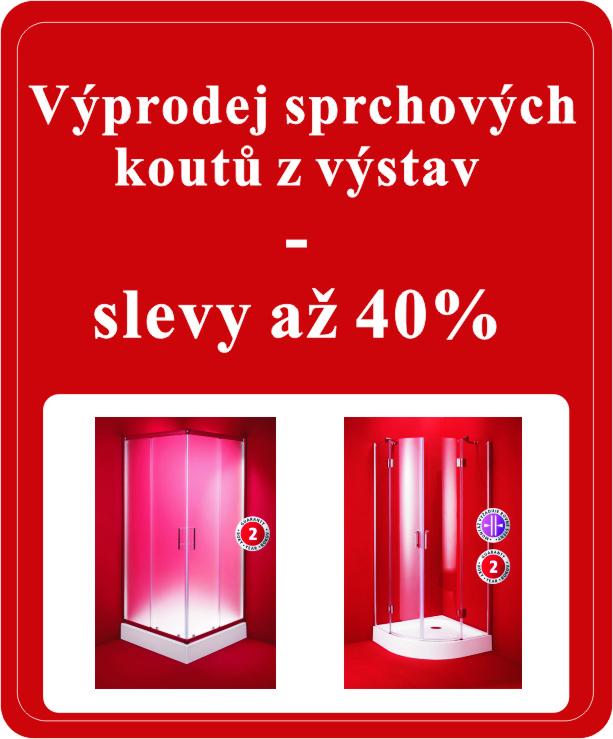 Sprchové kouty z výstav za skvělé ceny