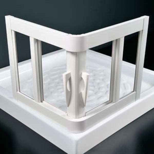 sprchové kouty - plastový rám