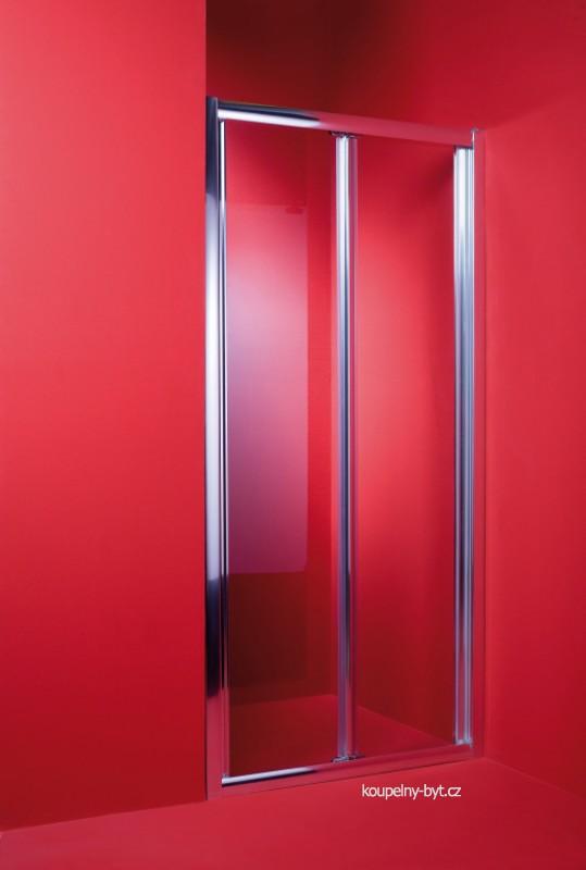Sprchové dveře se zalamovacím otevíráním, umožňují řešit problém s nebostatkem prostoru při zachování maximálního průchodu