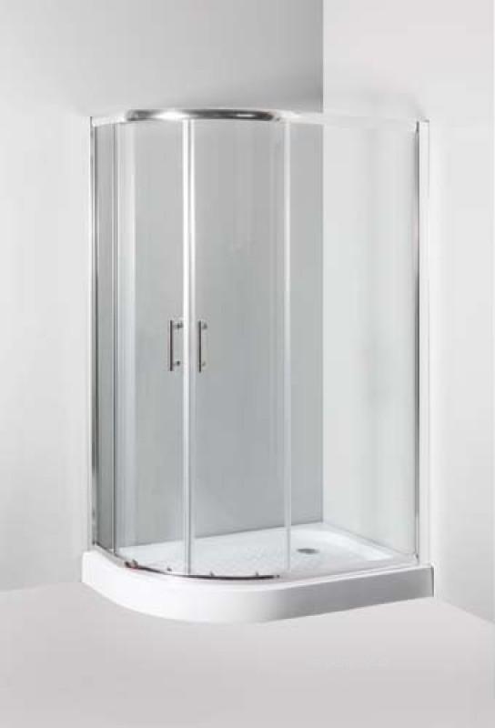 Sprchový kout Ibiza, který je alternativou mezi sprchovým koutem obdélníkovým a čtvrtkruhovým