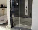 Sprchové dveře DRAGON 130 cm, čiré sklo