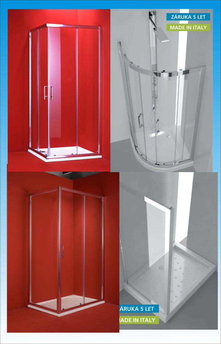 Tvarové rozdělení sprchových koutů