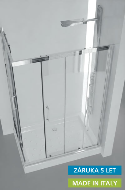 Sprchový kout Roma 100x80 cm
