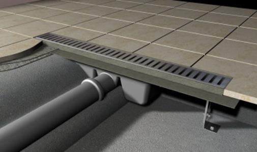 Podlahový žlab pro perforovaný rošt