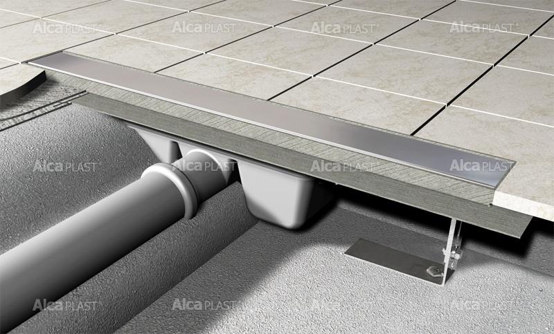 Podlahový žlab pro plný rošt