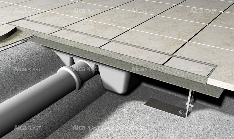 Podlahový žlab pro vložení dlažby
